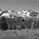 The Sawtooths (B&W) by Anna  Ellis