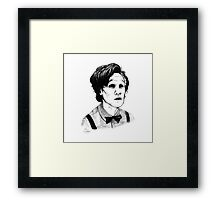 Matt Smith (Doctor Who) Etching Framed Print
