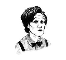 Matt Smith (Doctor Who) Etching Photographic Print