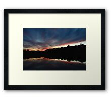 Untroubled Finales - Indian Springs Framed Print