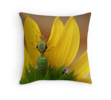 Study of Green Ant Throw Pillow