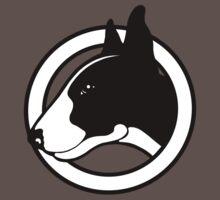 Black and White Bull Terrier Design  Baby Tee