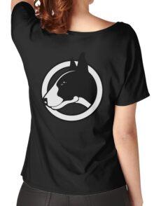 Black and White Bull Terrier Design  Women's Relaxed Fit T-Shirt