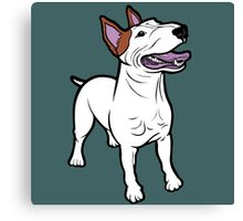 Happy Bull Terrier  Canvas Print