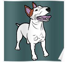 Happy Bull Terrier  Poster