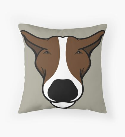 EBT Head Profile Brown and White  Throw Pillow
