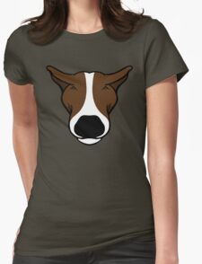 EBT Head Profile Brown and White  Womens Fitted T-Shirt