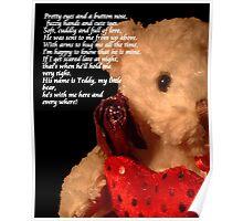 Teddy Poem © Poster