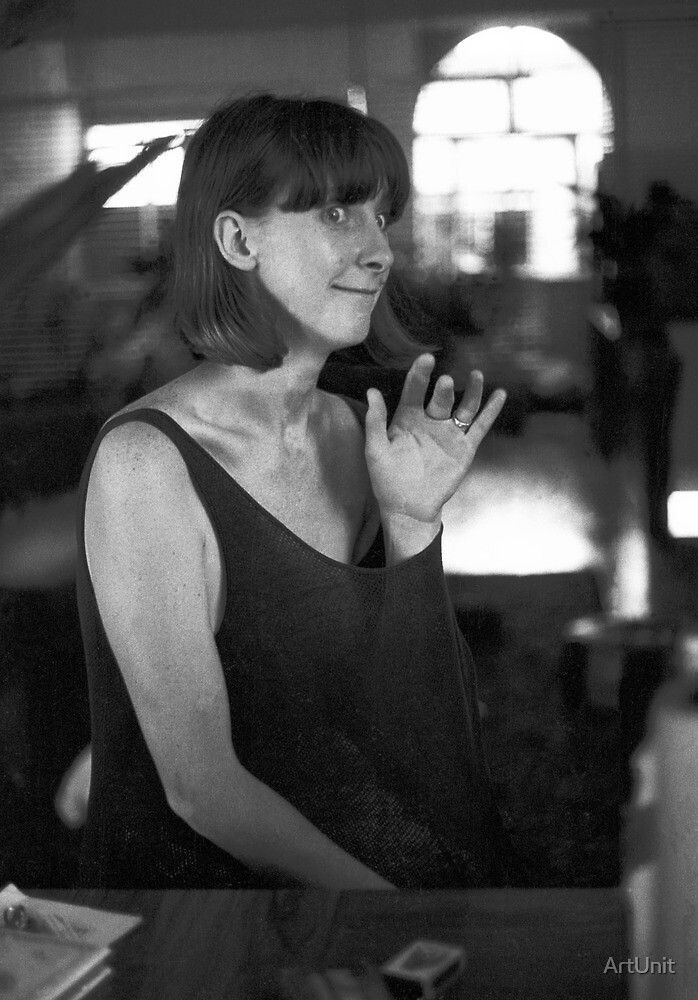 Frances Tyrie upstairs at Art Unit 1982 by ArtUnit