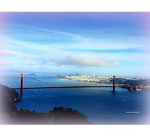 Golden Gate Bridge in Distance Photographic Print