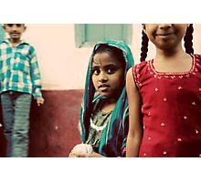 Shy girl Photographic Print