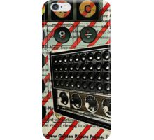 geeky nerdy retro calculator vintage shortwave radio  iPhone Case/Skin