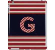 BROOKLINER BOSTON 1920s MONOGRAM alphabet letter initial  G iPad Case/Skin