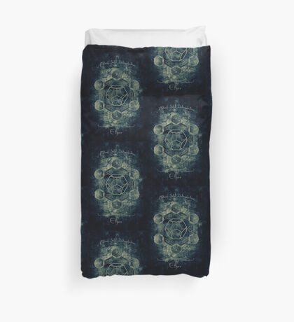 Sacred Geometry for your daily life Duvet Cover