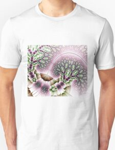 Tranquil Gardens (Pink on White) T-Shirt
