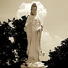 Religious statue outside of pagoda by MadsMonsen