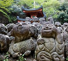 Buddha's Disciples at Otagi Nembutsuji by nekineko