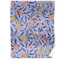 Vintage Tropical Floral Pattern Poster