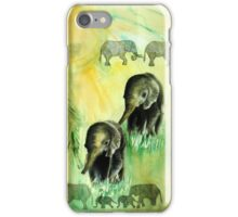 Elephant walk iPhone Case/Skin