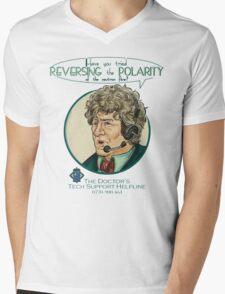 Reverse the Polarity Mens V-Neck T-Shirt