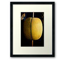 Yellow buoy, fishing vessel, Ho Tram beach, Vietnam Framed Print