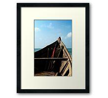 Bow view of the ocean at Ho Tram beach, Vietnam Framed Print