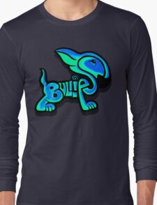 Bullies Letter Character Turquoise and Blue Long Sleeve T-Shirt