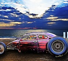 VW Surf Monster at the Shore from VivaChas by ChasSinklier