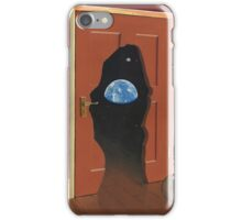Beyond Magritte's Door iPhone Case/Skin