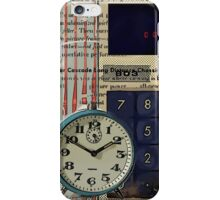 cool geeky nerdy alarm clock retro calculator  iPhone Case/Skin
