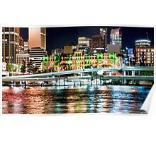 Brisbane Fairy Lights Poster