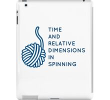 Time And Relative Dimensions in Spinning / Blue iPad Case/Skin