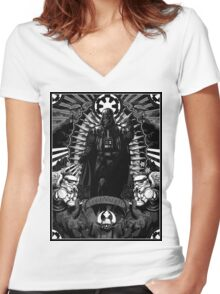 Our Blessed Lord Vader Women's Fitted V-Neck T-Shirt