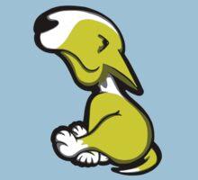 Innocent English Bull Terrier Puppy Yellow and White Kids Tee