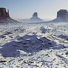 Monument Valley in the snow by John Dalkin