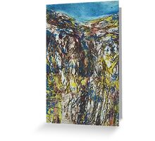 Malham Cove Collagraph Greeting Card