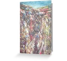 Malham Cove 2 Collagraph Greeting Card
