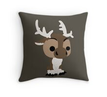 Adorable Reindeer Throw Pillow