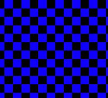 Square Harlequin Pattern Design Black and Blue  by Sookiesooker