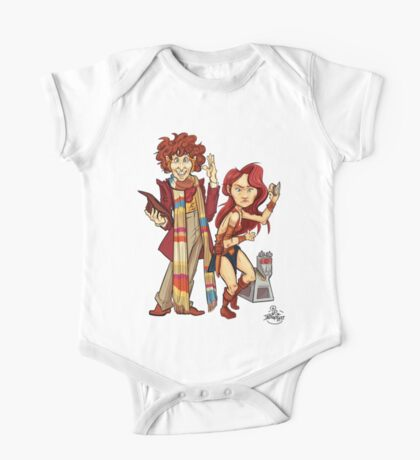 The Doctor, The Warrior, and K-9 One Piece - Short Sleeve
