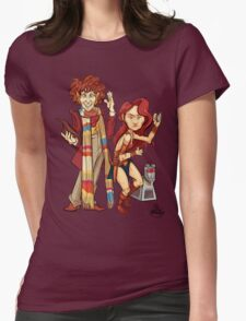 The Doctor, The Warrior, and K-9 Womens Fitted T-Shirt