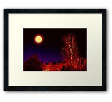 A Full Moon Goodnight Framed Print