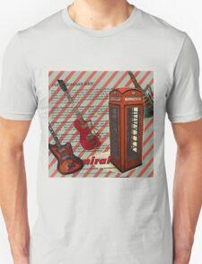 modern british rock music london telephone retro guitar  T-Shirt