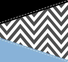 Zigzag Pattern, Chevron Pattern - Gray Blue Black by sitnica