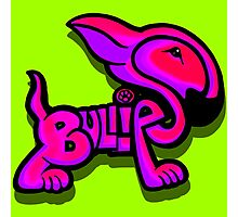 Bullies Letter Character Red Pink and Purple  Photographic Print