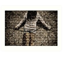 You're just another brick in the wall Art Print