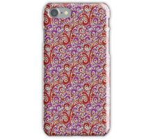 Red and Purple Swirl Pattern iPhone Case/Skin