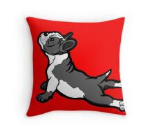 Boston Bull Terrier Puppy Black and White Throw Pillow