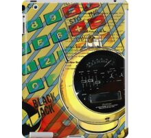 funky geek nerd alarm clock retro calculator  iPad Case/Skin