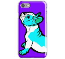 Boston Bull Terrier Puppy Blue iPhone Case/Skin